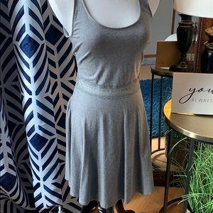 Grey stretch mini sun dress